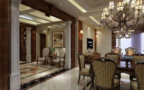 餐厅门厅美式风格装饰设计图片