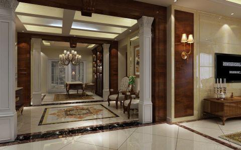 客厅门厅美式风格效果图