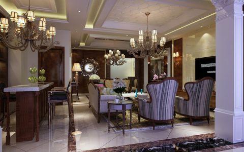 客厅隐形门美式风格装修效果图