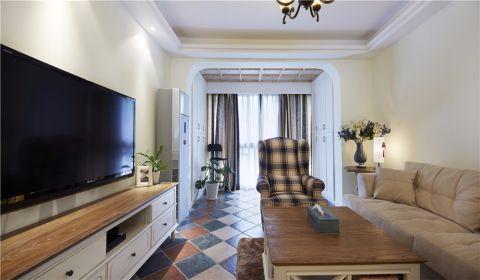 客厅门厅地中海风格装潢图片