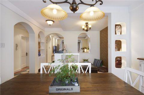 餐厅门厅地中海风格装潢设计图片