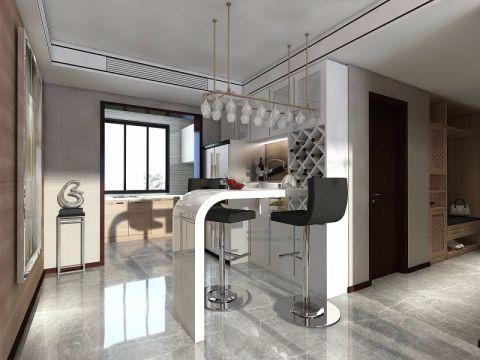 智高常春藤白色120—180平米现代简约三室一厅装修效果图