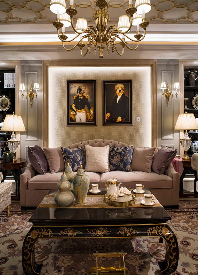 3室2卫1厅128平米美式风格