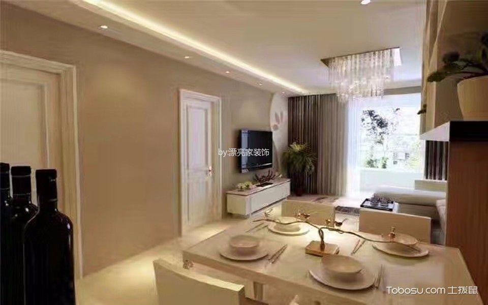 餐厅白色餐桌现代简约风格装修设计图片
