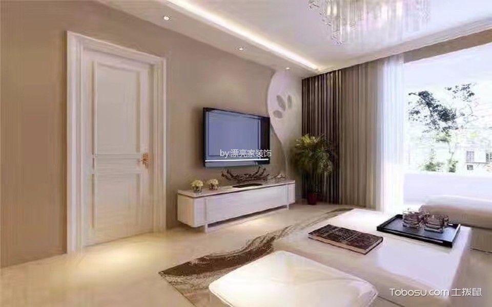 客厅白色茶几现代简约风格装修效果图