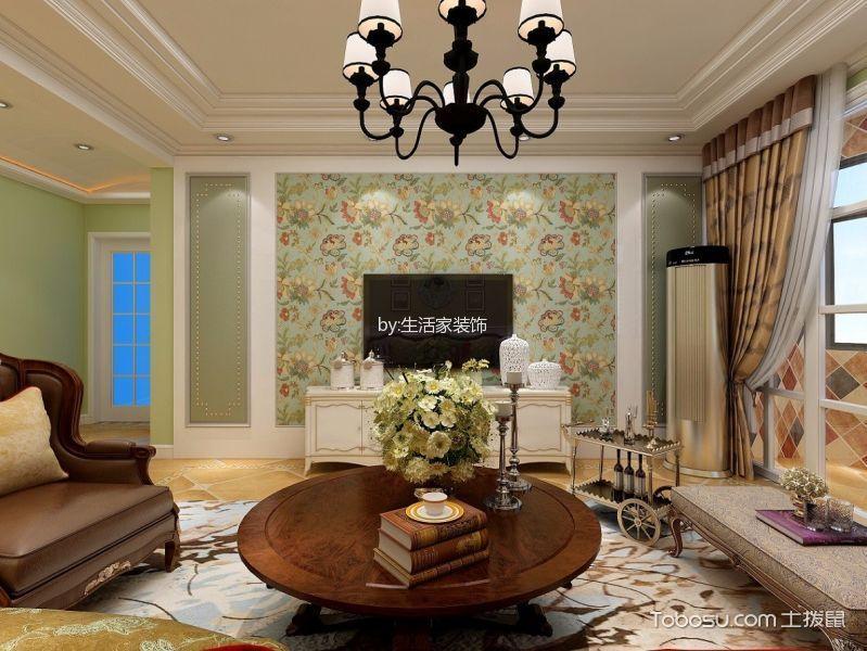 果岭公馆米色150平米欧式风格三室两厅装修效果图