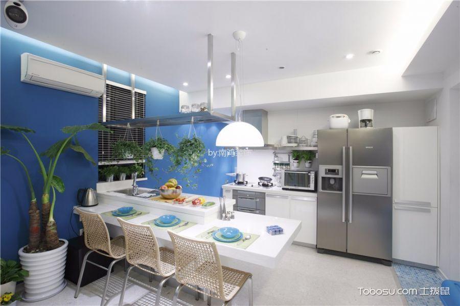 餐厅 吊顶_现代简约风格60平米公寓室内装修效果图