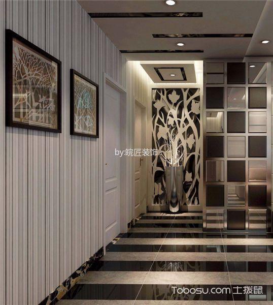 信达天御灰色80平米简约风格两室一厅装修效果图