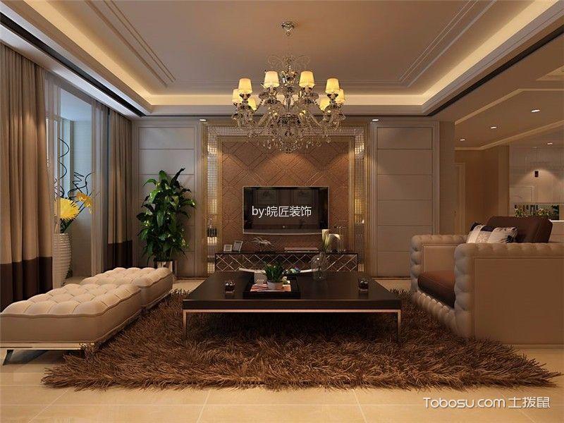 融侨天骏米色120-180平米简欧风格三室两厅装修效果图