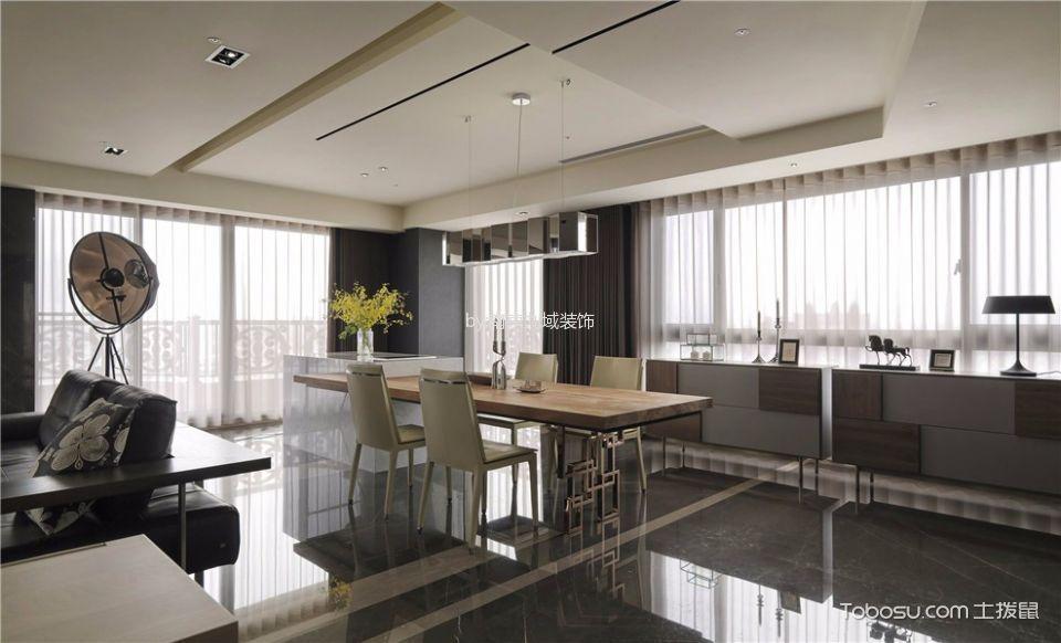 仁恒江湾城白色200平米现代简约大户型装修效果图