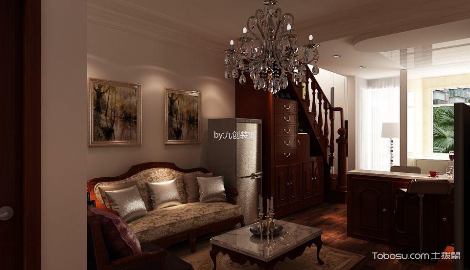 欧式风格90平米复式楼室内装修效果图