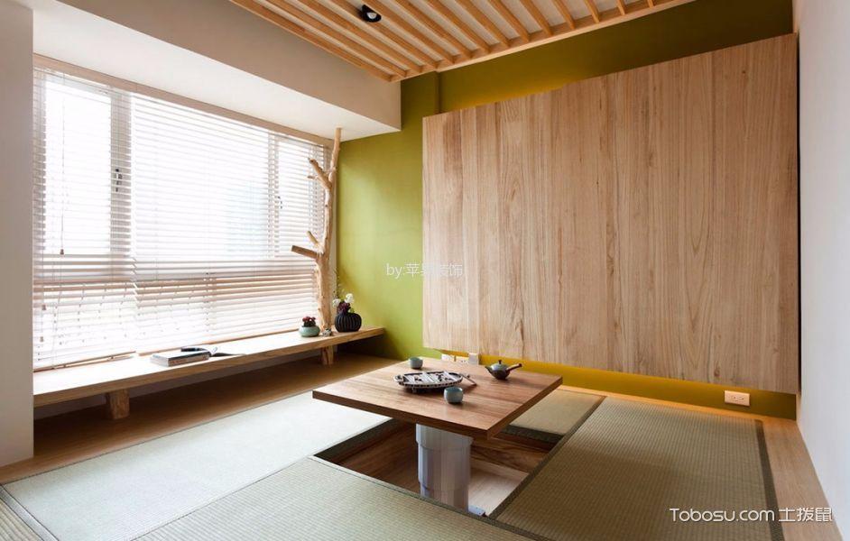 卧室绿色榻榻米现代简约风格装饰效果图
