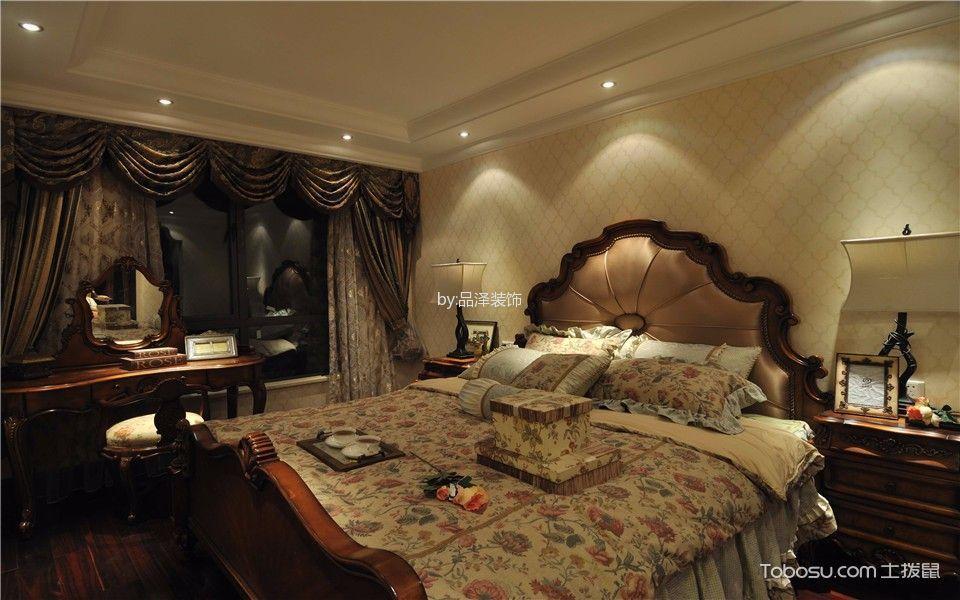 卧室 背景墙_三盛果岭180平米美式风格套房装修效果图图片