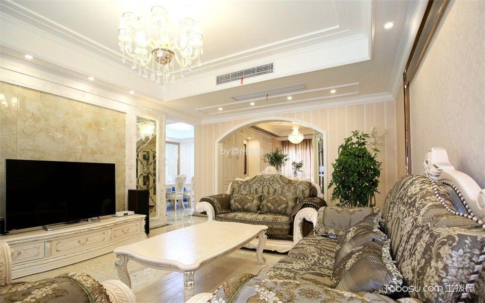 合景峰汇白色120—平米简欧四室两厅装修效果图