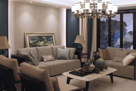 福星华府彩色120平米现代中式风格三室两厅装修效果图