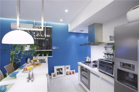 厨房白色餐桌现代简约风格装修图片