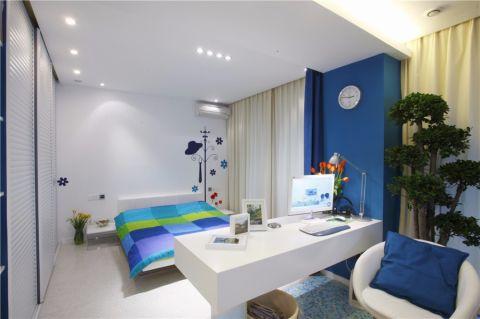 卧室米色窗帘现代简约风格装饰设计图片