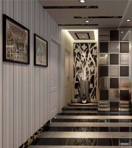 信達天御灰色80平米簡約風格兩室一廳裝修效果圖