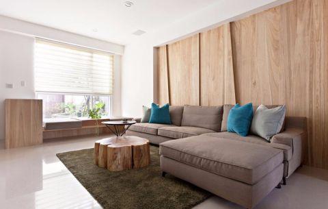 现代简约风格130平米三室两厅新房装修效果图