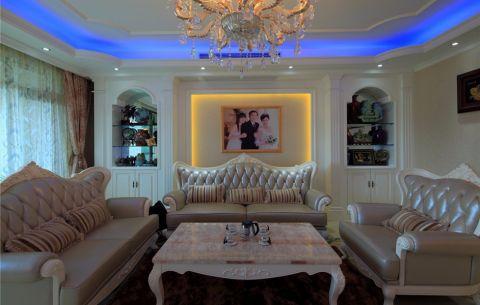 客厅窗帘欧式风格装潢设计图片