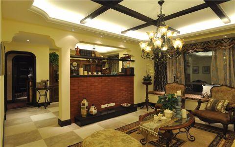 客厅门厅美式风格装潢图片