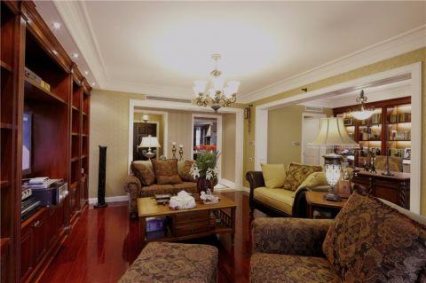 客厅隔断美式风格装修效果图