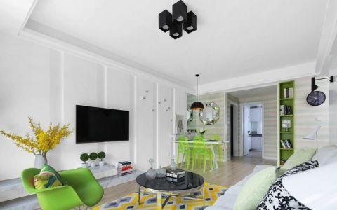 南山金城白色90平米现代两室一厅装修效果图