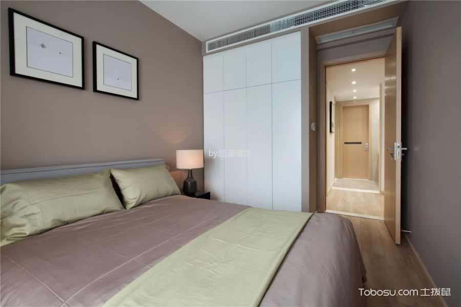 卧室灰色照片墙现代风格装饰效果图