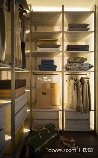 衣帽间白色衣柜现代风格装潢设计图片