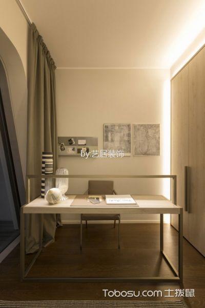 书房灰色窗帘现代风格装修效果图