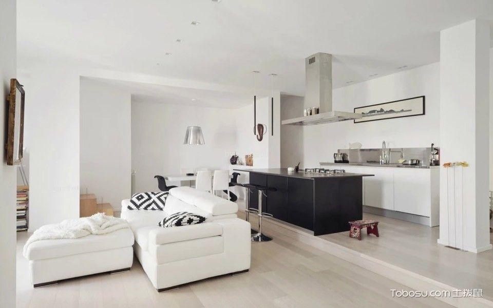 客厅白色沙发北欧风格装饰设计图片