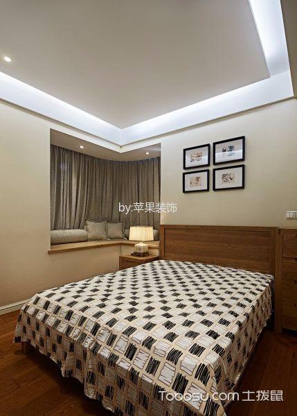 卧室白色飘窗新中式风格装潢效果图