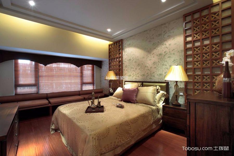 卧室黄色床东南亚风格装饰效果图