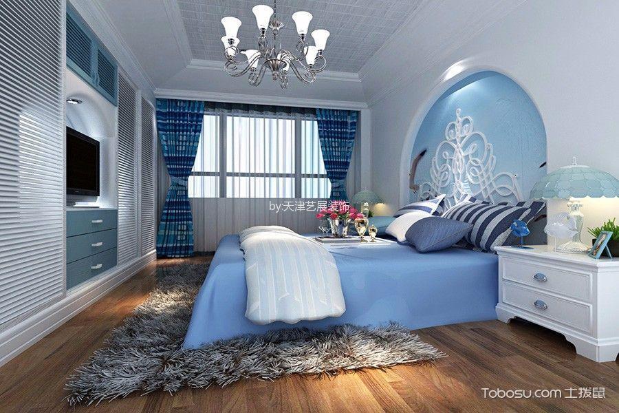 卧室白色吊顶地中海风格装修设计图片