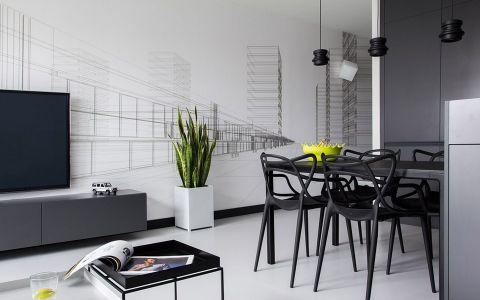 现代风格120平米公寓新房装修效果图