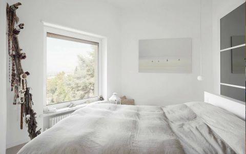 卧室背景墙北欧风格装潢图片