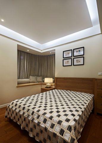 卧室照片墙中式风格装潢效果图