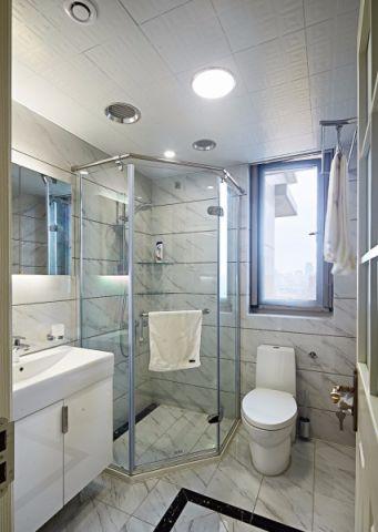 卫生间隔断中式风格装潢图片