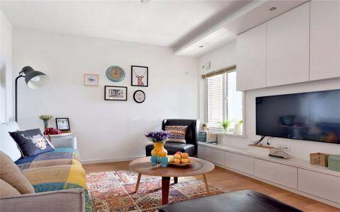 北欧风格85平米三室两厅新房装修效果图