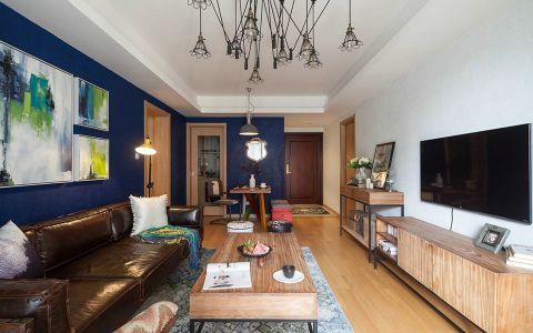 简约风格69平米两室两厅新房装修效果图