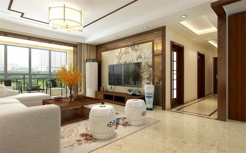 新中式风格150平米大户型新房装修效果图