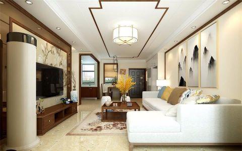 客厅照片墙新中式风格装潢图片