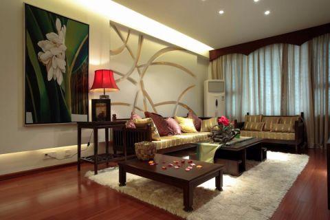 客厅吊顶东南亚风格装饰设计图片