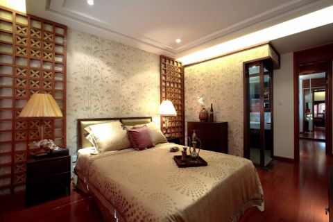 卧室吊顶东南亚风格装潢效果图