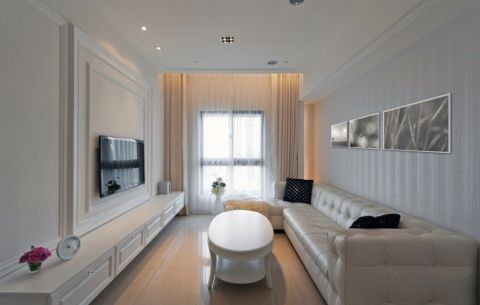 客厅窗帘简约风格装饰图片