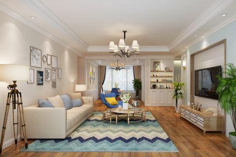 简约风格130平米三室两厅室内装修效果图