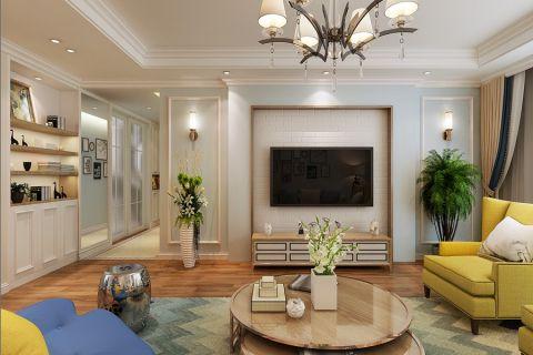 客厅电视柜简约风格装修设计图片