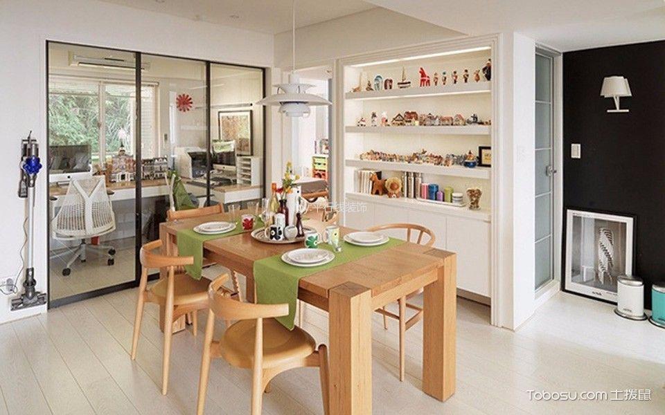 餐厅 餐桌_北欧风格83平米三室两厅新房装修效果图