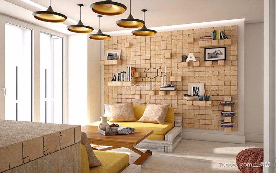 客厅灰色吊顶北欧风格效果图