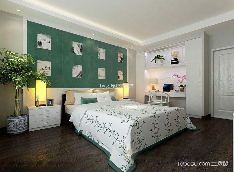 卧室绿色照片墙现代简约风格装修效果图